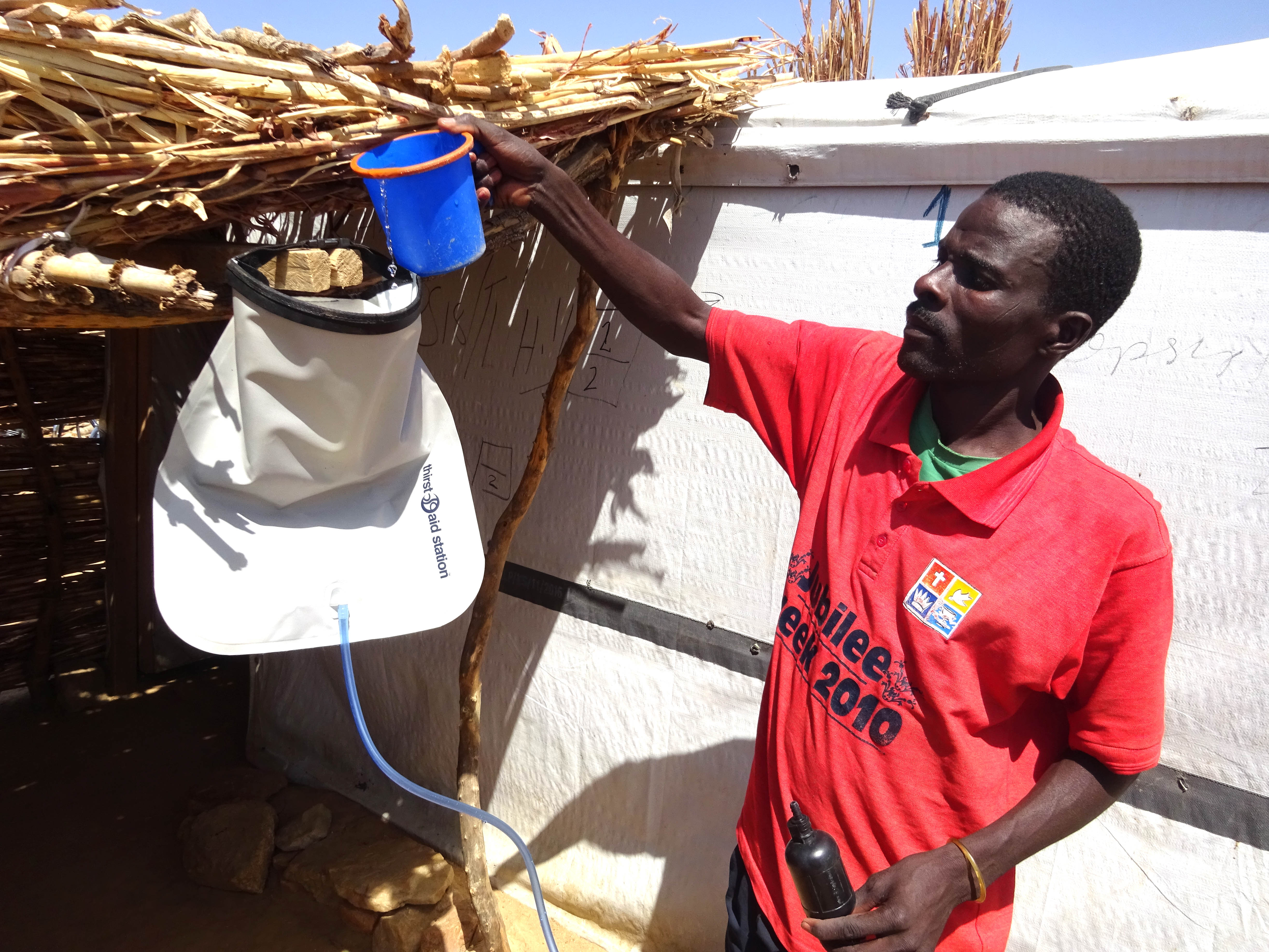 ShelterBox distributes water filters and purification equipment to help families access clean and safe drinking water