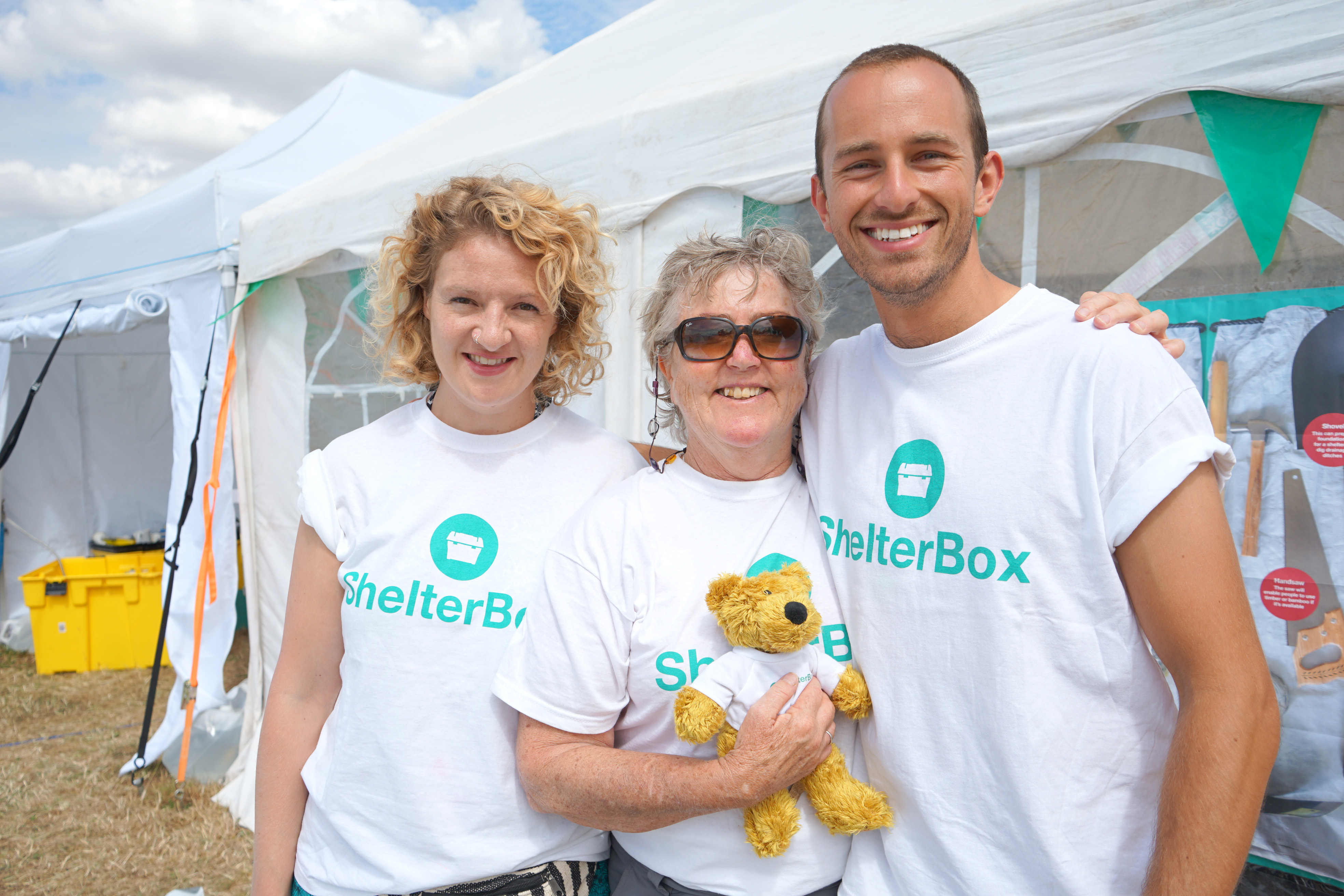 ShelterBox volunteers helping raise funds at an event
