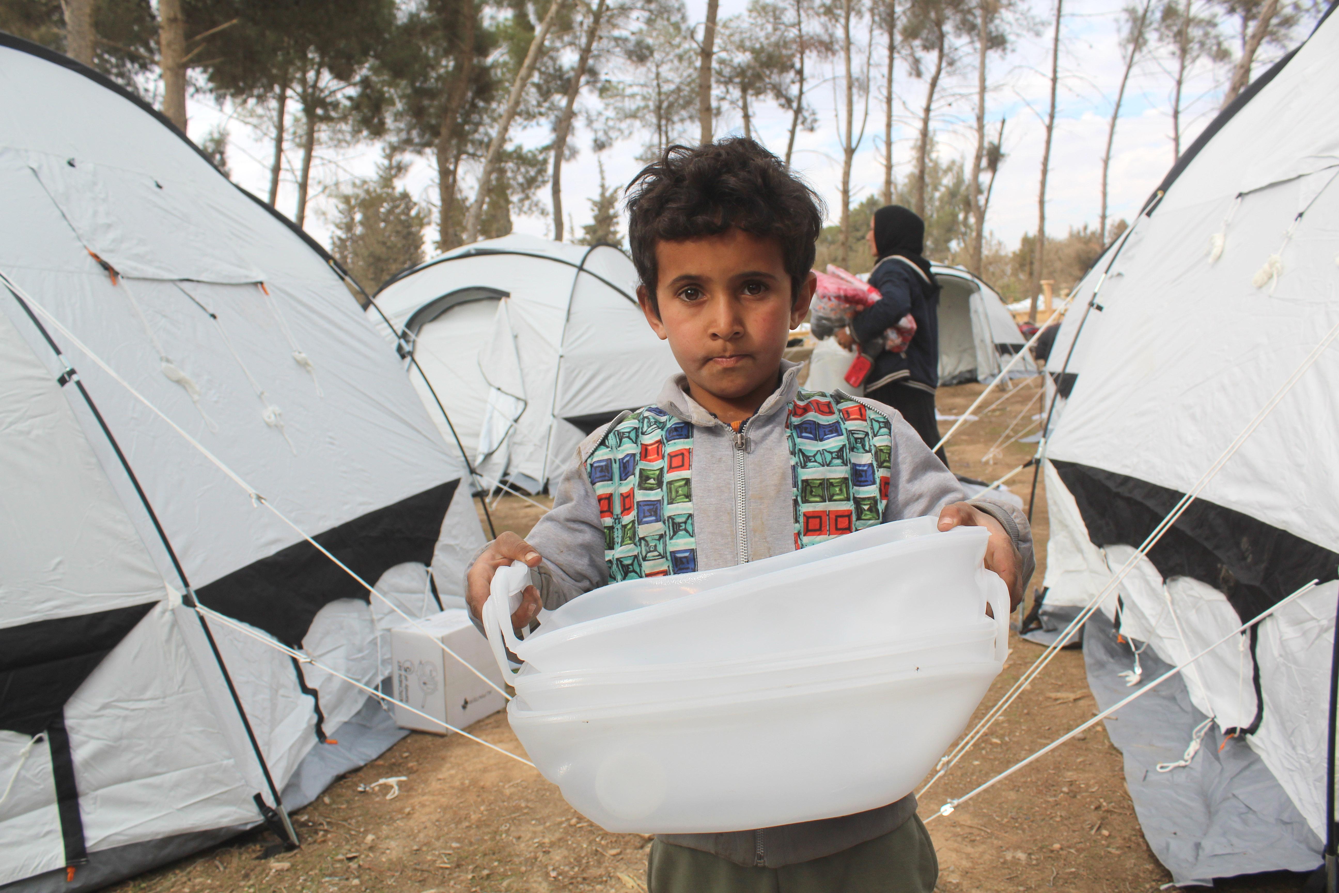 ShelterBox international aid in Syria